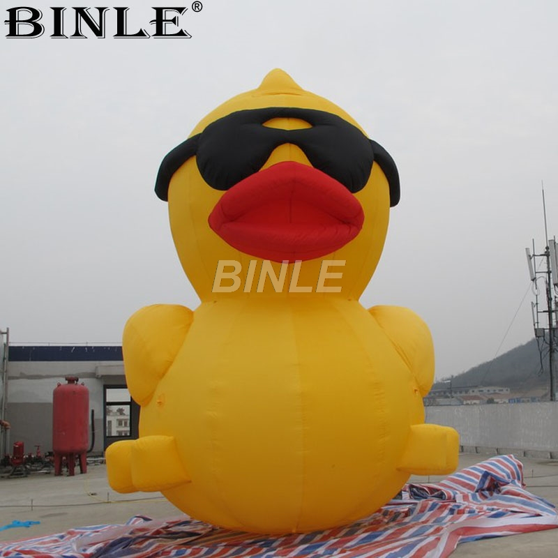 Free ship 5m 16ftH popular beach decoration large inflatable duck giant inflatable animal model big rubber duck for advertising цены онлайн