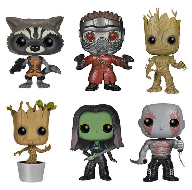 Guardians of the Galaxy Star Lord The Tree Man Gamora Rocket Raccoon PVC Action Figures Collection Toys 6 Styles with Retail Box