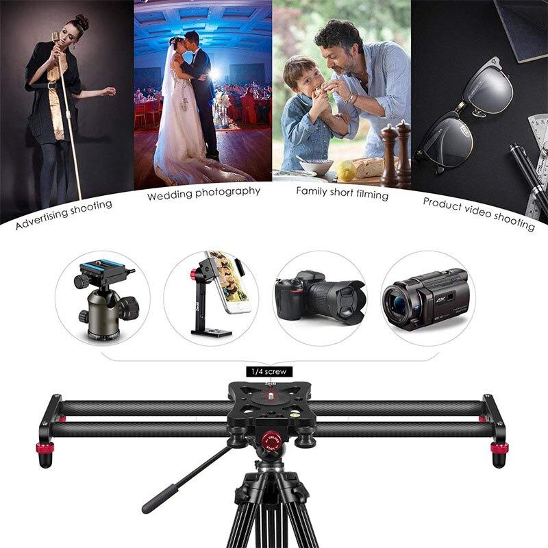 Piste de curseur de caméra en Fiber de carbone de 15.7 pouces avec 4 roulements à rouleaux pour la fabrication de films vidéo WIF66