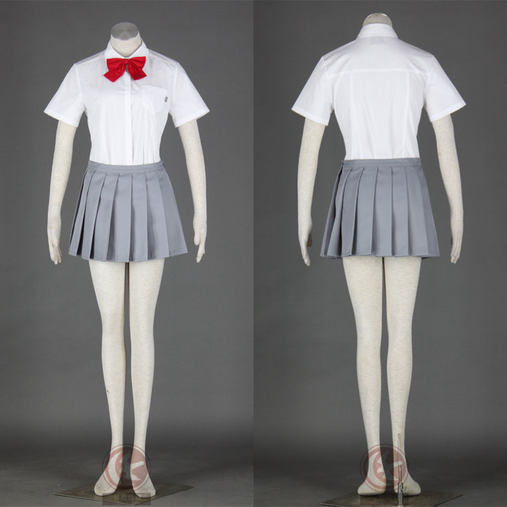 Summer Rukia School Uniform Cosplay Costume From Bleach Anime