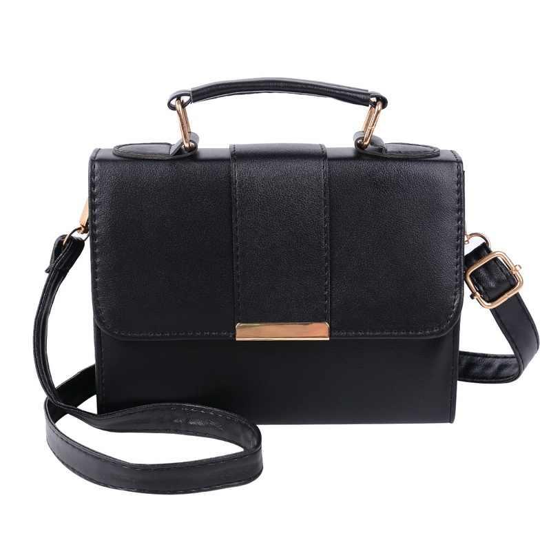 46a7d1d084207 2018 Summer Fashion Women Bag Leather Handbags PU Shoulder Bag Small Flap  Crossbody Bags For Women