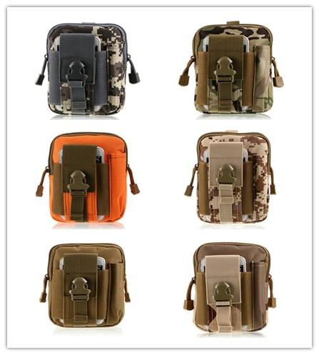 Army fan tactical outdoor sports camouflage Fanny pack wear-resistant nylon waterproof <font><b>cell</b></font> <font><b>phone</b></font> waist <font><b>belt</b></font> <font><b>running</b></font> hang bag