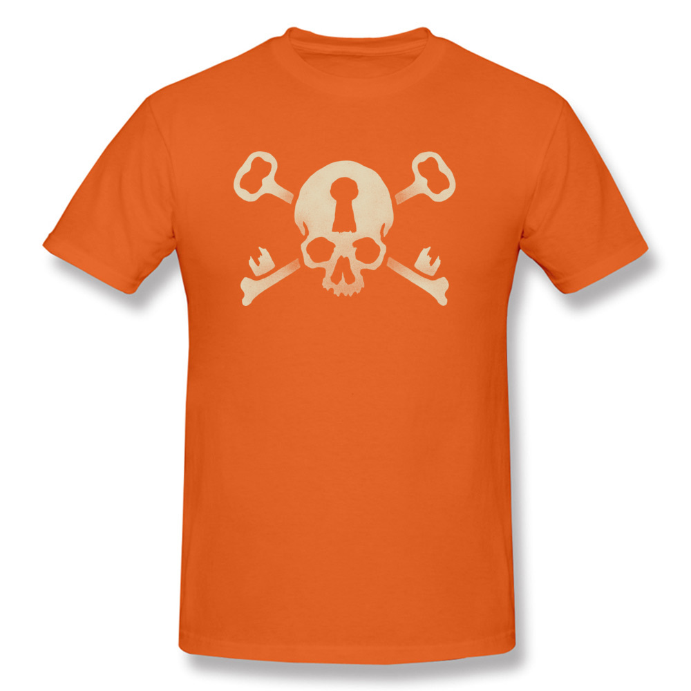 Deadlocked Normal Thanksgiving Day 100% Cotton Crewneck Men's T Shirt Normal Tee Shirt Cute Short Sleeve Tshirts Deadlocked orange