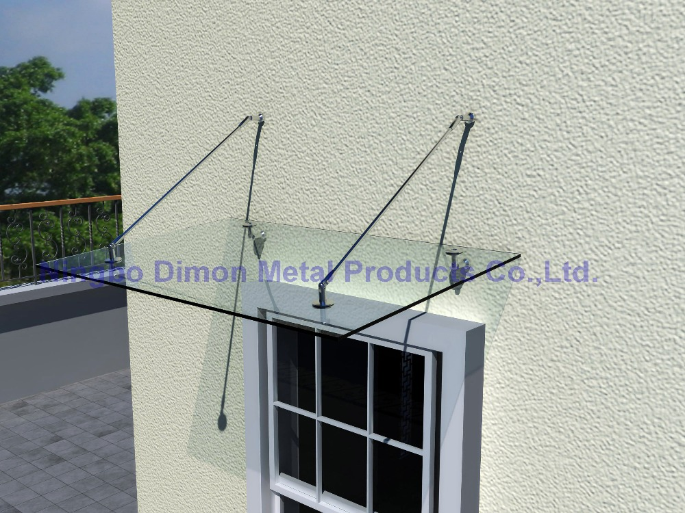 Dimon high quantity glass canopy / awning bracket stainles steel 304 bracket door awning bracket glass canopy fittings DM-YP 001 yp150300 150x300cm window canopies garden awning canopy entrance door canopy depth 150cm width 300cm