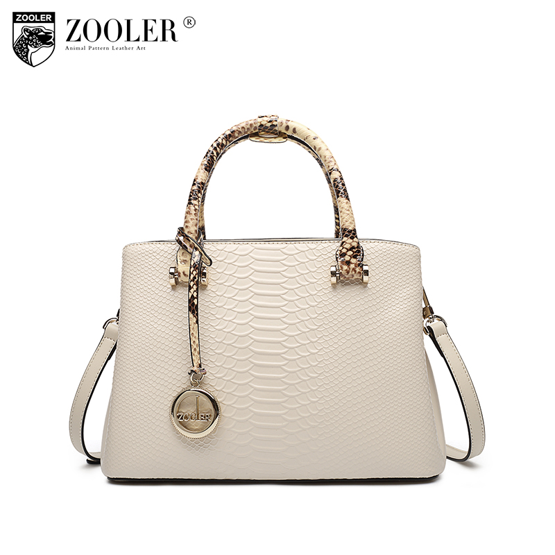 new product sales Zooler Brand elegant cowhide bags pattern handbag top handle genuine leather bag women bag bolsas tote #F102 купить