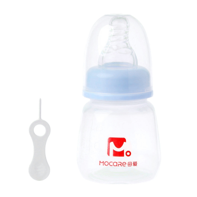 Baby bottle Infant Cup Children Learn Feeding Drinking Handle Bottle kids Straw Juice water Bottle 80ML Insulation Bags -B116