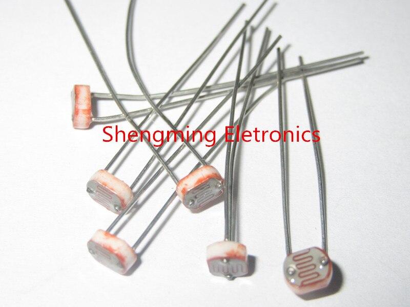 200PCS GL5516 5516 Light Dependent Resistor LDR 5MM Photoresistor-in ...