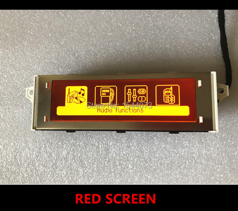 Hot Sale Car Red screen support USB Bluetooth French English 4 menu Display monitor 12 pin for Peugeot 307 407 408 citroen C4 C5
