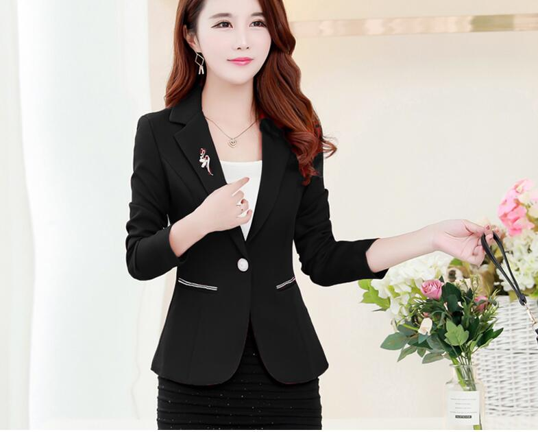 9ff88df203ee6 2019 LXMSTH Autumn Korean Formal Women Blazers And Jackets Long ...