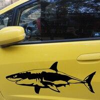 58 cm x 21.65 cm 2 x Grote Witte Haai (een Voor Elke Kant) Vinyl Decal Autoruit Muur Nieuwigheid Sticker Vis Kaken