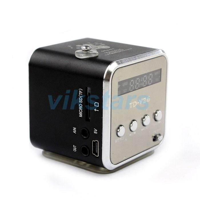 Портативный динамик TF USB интернет-радио FM, мобильный телефон вибрации компьютер плеер динамик, многофункциональный fm-радио V26RRU-7
