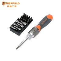 Shefffld S056510 27 в 1 Dual-driver Multi-function Double speed Ratchet отвертка Набор инструментов комбинированная отвертка