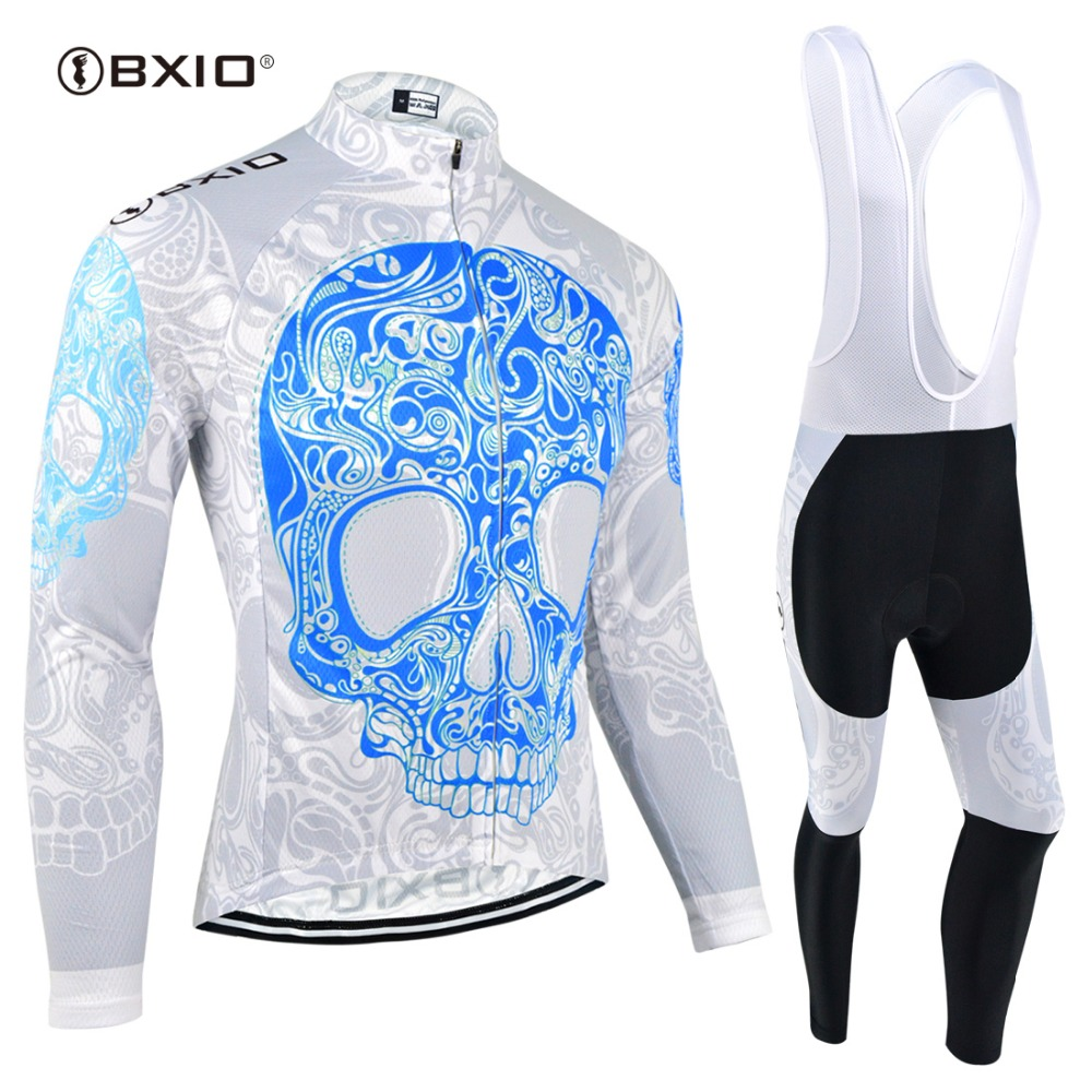 BXIO Winter Thermal Fleece Long Sleeve Cycling Jersey Sets Bike Riding Wear Equipo de Ropa Ciclismo Clothing BX-0109B104