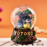 Japonés Miyazaki Totoro caja de música bola de cristal que gira o luces intermitentes Envío Gratis