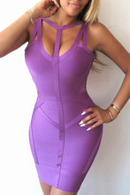 Hollow Bandage dress Purple