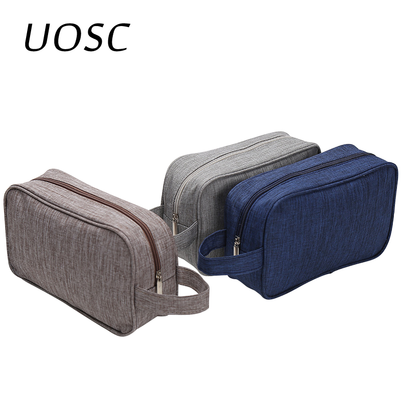 UOSC Brand Women Men Small Waterproof Makeup Bag Travel Beauty Cosmetic Bag Organizer Case Necessaries Make Up Toiletry Bag
