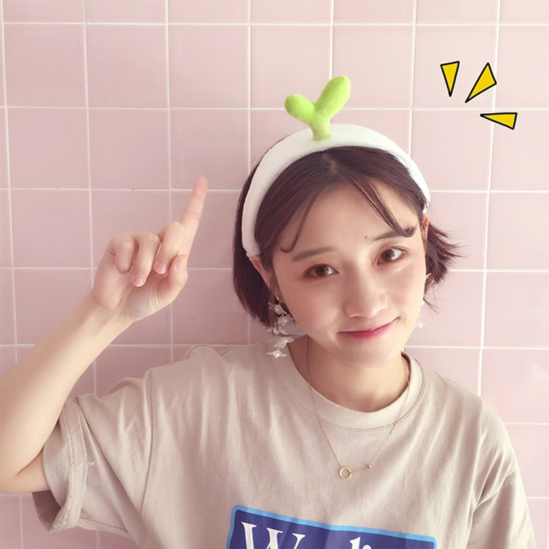 For Women Girls Elastic Hair Band Cactus Bean Sprouts Headband Creative Personality Cute Hairband Fashion Sweet Hair Accessories in Women 39 s Hair Accessories from Apparel Accessories