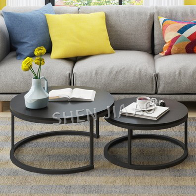 Table de combinaison de Style minimaliste moderne Table de loisirs à la maison Simple pied haut maison/bureau Table basse combinée 1 PC