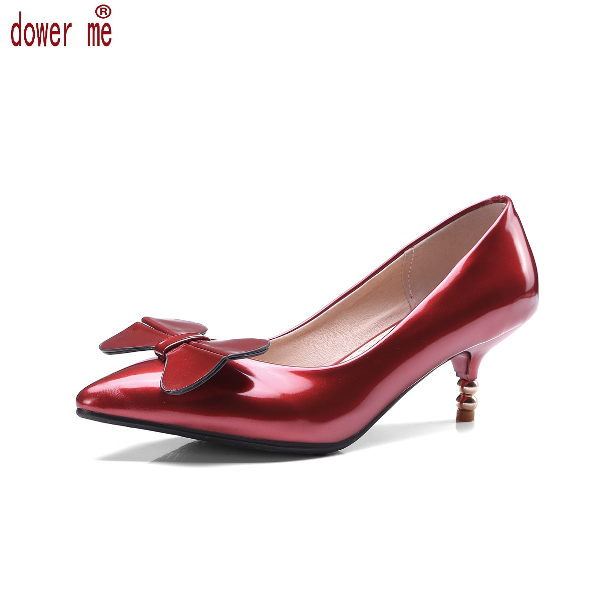 Big Size 43 New Fashion Shoes Woman Spring/autumn Pu Leather Pump Shoes Women Thin High Heels Pointed Toe Party Zapatos Mujer 2017 new spring autumn big size 11 12 dress sweet wedges women shoes pointed toe woman ladies womens