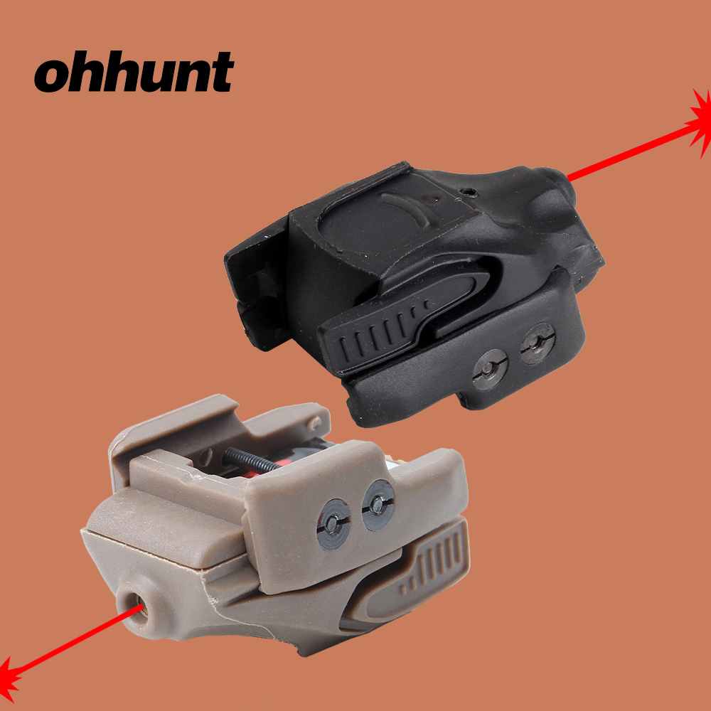 ohhunt Tactical CMR-201 Red Dot Laser Sight 5mW Rail Master Universal Micro Black Tan Color for 1911 Airsoft