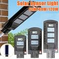 AUGIENB 21000LM 40 W/80 W/120 W Luz de calle Solar 20/40/60 LED al aire libre lámpara de seguridad con Sensor de movimiento/IPX6