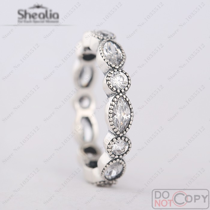 2016 Autumn Clear CZ Round and <font><b>Oval</b></font> Eternity Ring 925 Sterling <font><b>Silver</b></font> Wedding Rings For Women European Style <font><b>Fine</b></font> Jewelry
