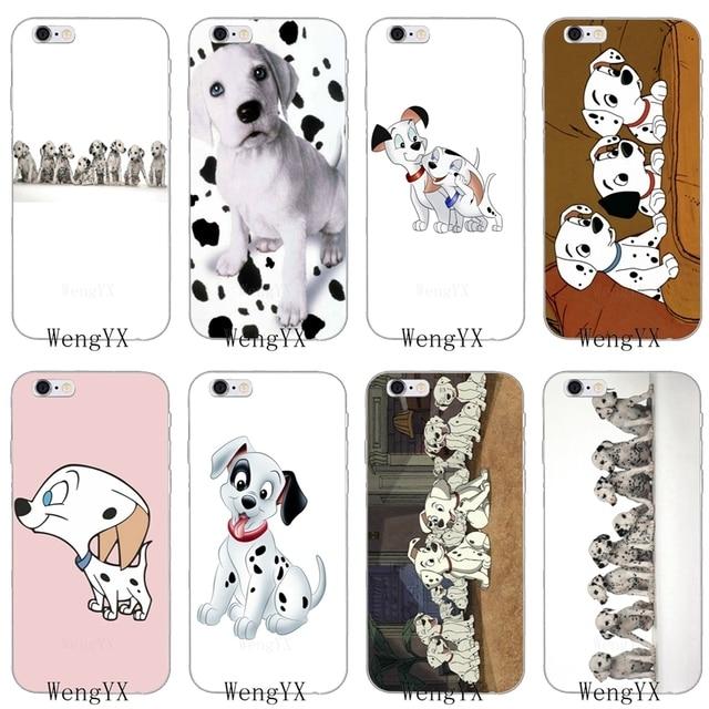 Kawaii Dalmatian Puppies Dog Slim Silicone Soft Phone Case For