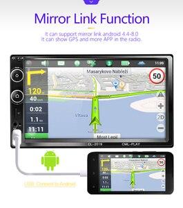 Image 5 - 2 דין רכב רדיו Bluetooth מראה קישור אנדרואיד 9 רכב מולטימדיה נגן HD מגע Autoradio MP5 USB אודיו סטריאו לרכב צג