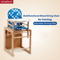 Baby dining chair to eat solid wood reinforcement and high environmental protection children's dining chair