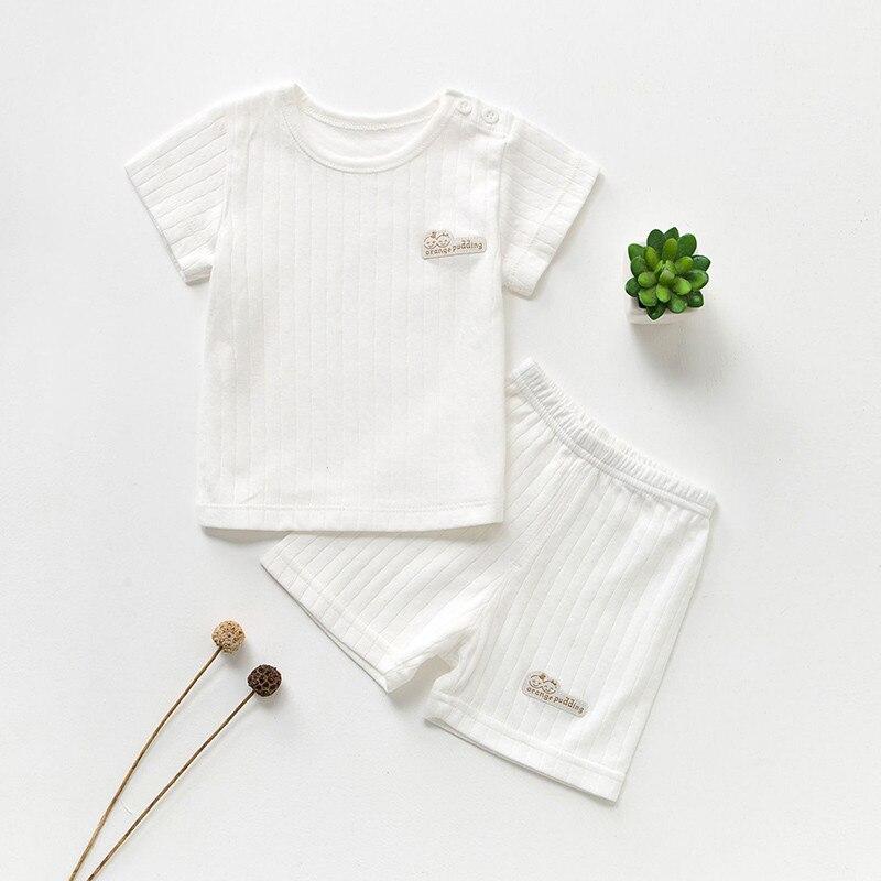 Katoenen Babykleding Set Zomer Baby Meisjeskleding Korte Mouw Baby - Babykleding - Foto 2