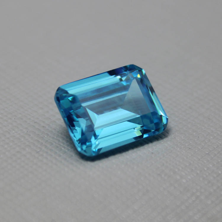flawless created aquamarine gemstone beads faceted stone aaa Rectangle loose gemstones for jewelry making created diy