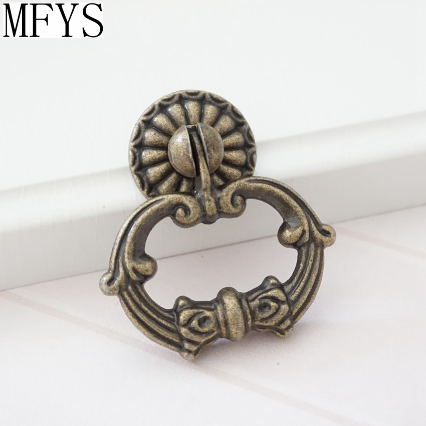 Vintage Look Dresser Pulls Drawer Knobs Ring Drop Pull