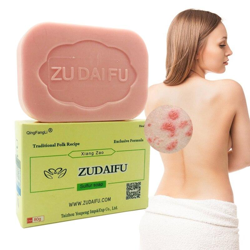 1PC Zudaifu Sulfur Soap  Psoriasis Cream Body Massage Patches Wholesale