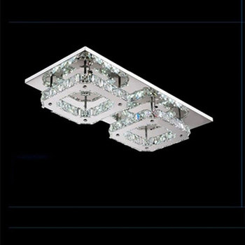 24W Led chandelier Lights modern Crystal lustres Luminaria lamparas de techo Fixture For Home Lighting LED ceiling lampe