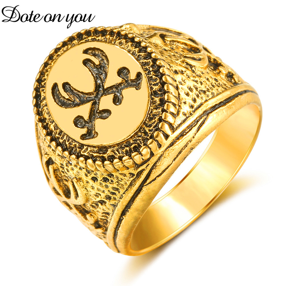 Islam Teaches Islamic Stainless Steel Gold Ring for Fashionable Women Men High Quality Jewelry Wedding Engagement Party Gifts