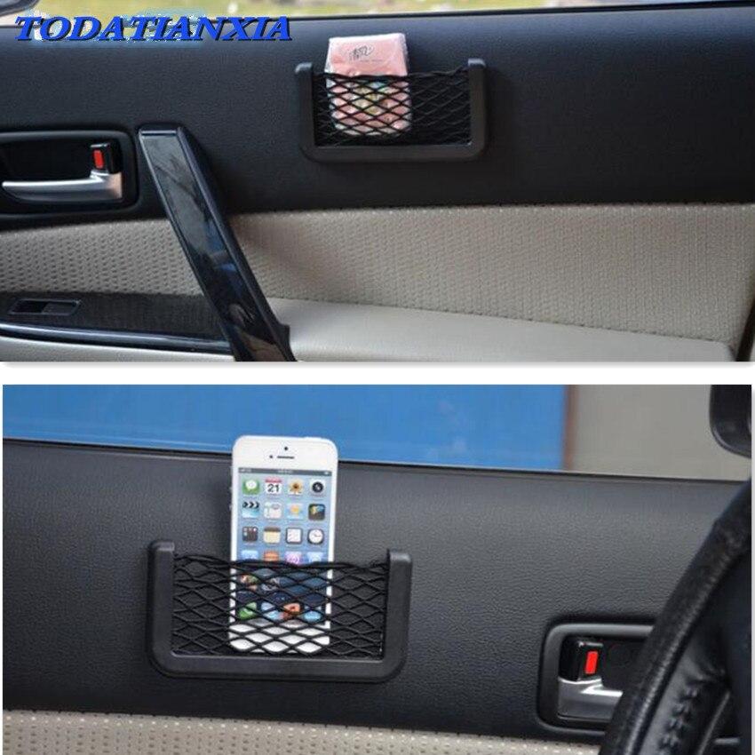 14*7cm Universal Car Seat Back Storage Net Bag FOR mitsubishi lancer 10 lifan x60 priora kia sportage 3 haval h6 granta lada
