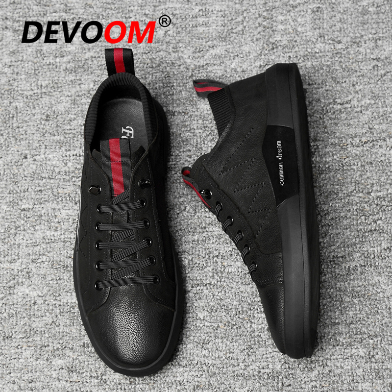 New Fashion Men Luxury Shoes Moccasins Black Leather Shoes Genuine leather Autumn Shoes Men Casual Loafers Chaussure Homme Cuir|Men's Casual Shoes| |  - title=