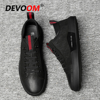 New Fashion Men Luxury Shoes Moccasins Black Leather Shoes Genuine leather Autumn Shoes Men Casual Loafers Chaussure Homme Cuir