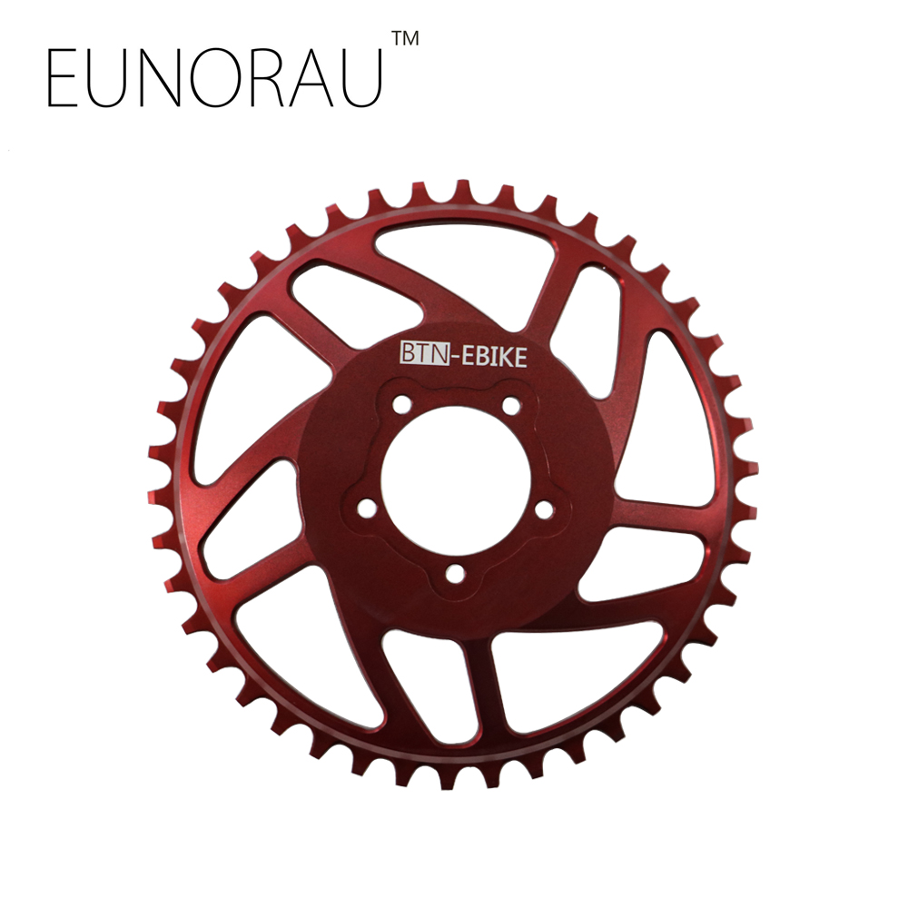 Free shipping New Red BLING RING HD 42T CNC NARROW WIDE CHAIN WHEEL FOR BAFANG BBSHD/BBS03 MOTOR