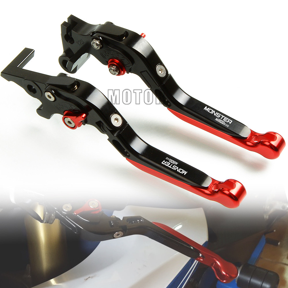 For Ducati M1100 M1100S M1100EVO MONSTER 2009 2013 M 1100 S EVO CNC Aluminum Motorcycle Adjustable