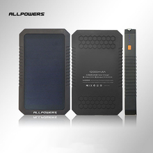 Allpowers Best Quality 12000mAh Oudoor Standby Power Supply Power Bank Cross-country Hiking Solar Energy External Battery Pack