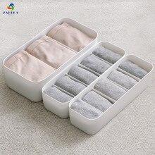 2 PC Plastic Underwear Organizer Storage Box Bra Socks Drawer Cosmetic Divider Tidy 5 Cells Home Organizers Candy Colors