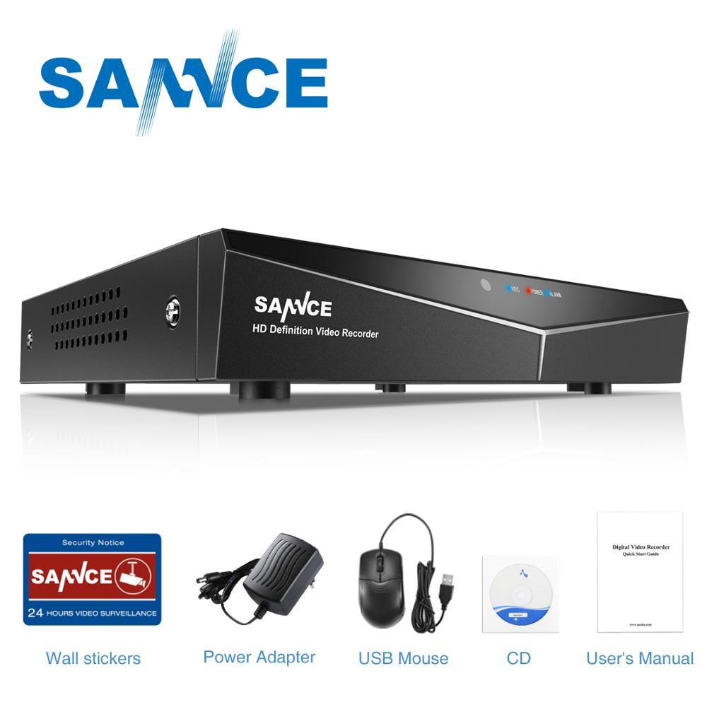 SANNCE 4 Channel 8 Channel AHD DVR AHDM 5-in-1 1080N Beveiliging CCTV DVR 4CH 8CH Mini Hybride HDMI DVR Ondersteuning Analoge / AHD Camera