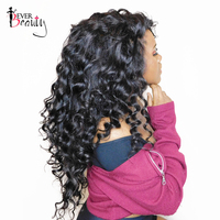 250% Density Lace Front Human Hair Wigs Pre Plucked Hairline Loose Wave Peruvian Lace Front Wig Natural Color Remy Ever Beauty