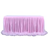 Tulle Table Skirt Tablecloth for Party Wedding Home Decoration DIY Tableware Skirts Tutu Wedding Birthday Party Home Textile