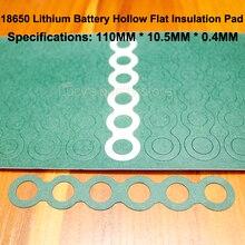 100 Cái/lốc 18650 Pin Lithium Tích Cực Rỗng Cách Nhiệt Miếng Lót 6S Màu Chàm Giấy Xanh Vỏ Cách Nhiệt Bề Mặt Thảm MESON