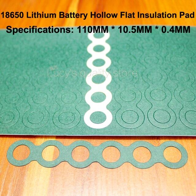 100 Stks/partij 18650 Lithium Batterij Positieve Holle Isolatie Pad 6S Indigo Papier Groen Shell Isolatie Oppervlak Mat Meson