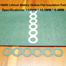 100pcs/lot 18650 Lithium Battery Positive Hollow Insulation Pad 6S Indigo Paper Green Shell Surface Mat Meson