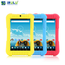 "iRULU Y3 7""Andriod 5.1 Quad Core IPS Tablet Dual Cam 2MP Tablet PC 1G RAM 16G ROM Wifi Bluetooth Silicone Case Babypad for Kids"