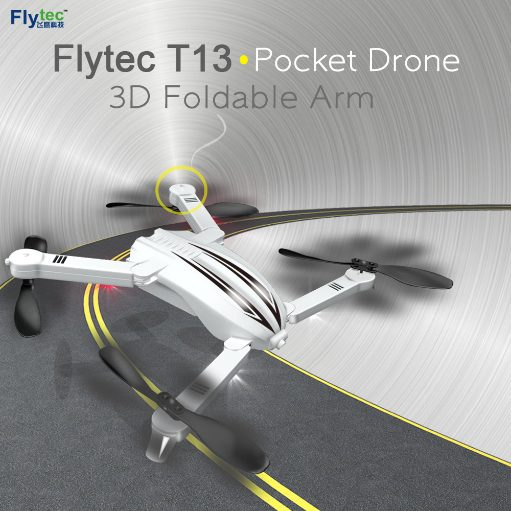JMT Flytec T13 3D Foldable Arm Pocket Drone WIFI FPV with 720P Wide Angle HD Camera